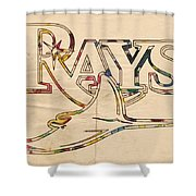 Tampa Bay Rays Logo Art Shower Curtain