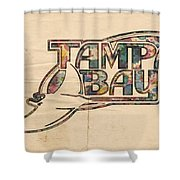 Tampa Bay Rays Poster Art Shower Curtain