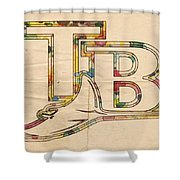 Tampa Bay Rays Poster Vintage Shower Curtain