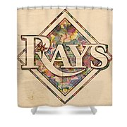 Tampa Bay Rays Vintage Art Shower Curtain
