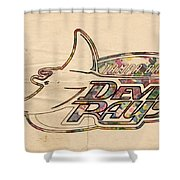 Tampa Bay Rays Vintage Logo Shower Curtain