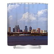Tampa Cityscape Shower Curtain