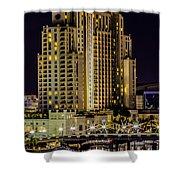 Tampa Marriott Waterside Hotel And Marina Shower Curtain