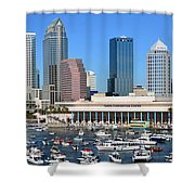 Tampa Panoramic Work D Shower Curtain