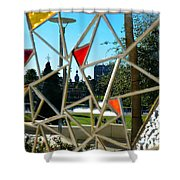 Tampa Seen Through Art Shower Curtain