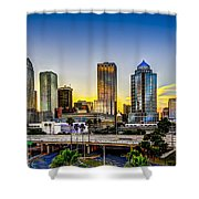 Tampa Skyline Shower Curtain