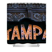 Tampa Theatre Sign 1926 Shower Curtain