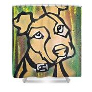 Tan Dog Shower Curtain