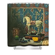 Tang Horse Shower Curtain