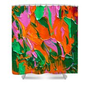 Tangerine And Lime Shower Curtain by Donna Blackhall