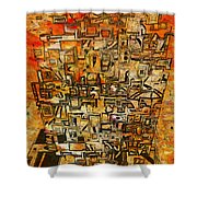 Tangerine Dream Shower Curtain by Jack Zulli