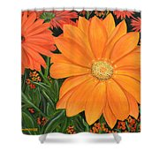 Tangerine Punch Shower Curtain