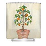 Tangerine Tree Shower Curtain