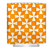 Tangerine Twirl Shower Curtain