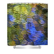 Tangerine Twist Mosaic Abstract Art Shower Curtain by Christina Rollo