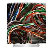 Tangle Of Colorful Wires Shower Curtain