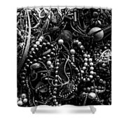 Tangled Baubles - Bw Shower Curtain