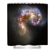 Tangled Galaxies Shower Curtain
