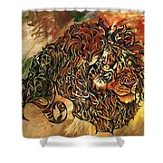 Tangled Lion Shower Curtain