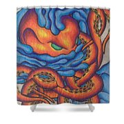 Tangled Octopus Shower Curtain