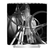 Tangled Up In Tubes Shower Curtain