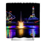 Tanglewood Festival Of Lights Shower Curtain