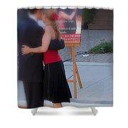 Tango Dancing On The Street Shower Curtain