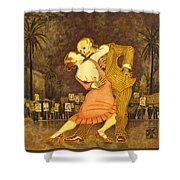 Tango En La Plaza De Mayo Shower Curtain