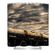 Tank Cars Shower Curtain by Bob Orsillo
