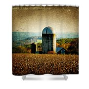 Tanner Hill Farm In The Fall Connecticut Usa Shower Curtain