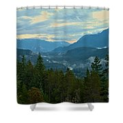 Tantalus Mountain Afternoon Landscape Shower Curtain