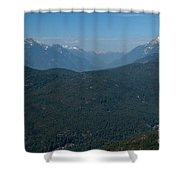 Tantalus Mountain Snow Caps Shower Curtain