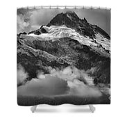 Tantalus Mountains - Canadian Coastal Mountain Range Shower Curtain