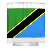 Tanzania Flag Shower Curtain