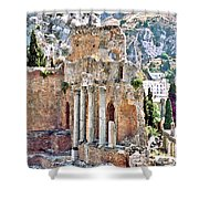 Taormina Amphitheater Shower Curtain