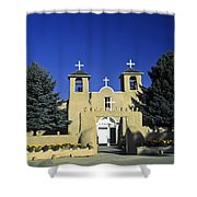 Taos Adobe Church Shower Curtain