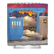 Taos B And B Shower Curtain