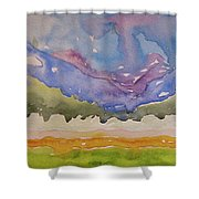 Taos Fields Shower Curtain