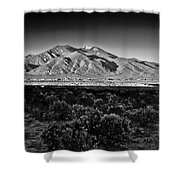 Taos In Black And White X Shower Curtain
