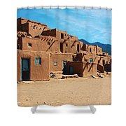 Taos Pueblo 4 Shower Curtain