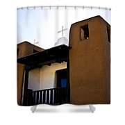 Taos Pueblo Church 2 Shower Curtain