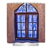 Taos Pueblo Church Window Shower Curtain
