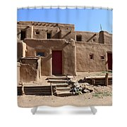 Taos Red Doors  Shower Curtain