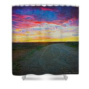 Taos Sunset On Rice Paper Shower Curtain