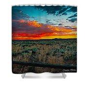 Taos Sunset Xi Shower Curtain