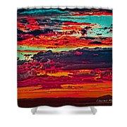 Taos Sunset Xix Shower Curtain