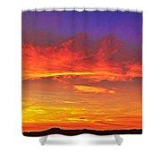 Taos Sunset Xxxx Shower Curtain