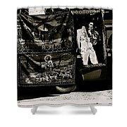 Tapestries Of  Elvis Presley  Hawai Concert Jesus Christ Sheep Horses Flags Armory Park Tucson Az Shower Curtain
