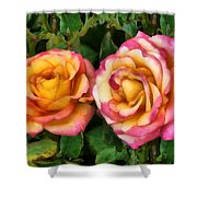 Tapestry - Roses And Thorns Shower Curtain