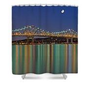 Tappan Zee Bridge Reflections Shower Curtain